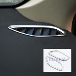 For Mitsubishi Outlander 2013 2018 Chrome Dashboard Air Vent Cover