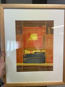 Marie-Claude-Cavagnac-Peinture-Art-Moderne-Dessin-Ancien-Design-Cadre