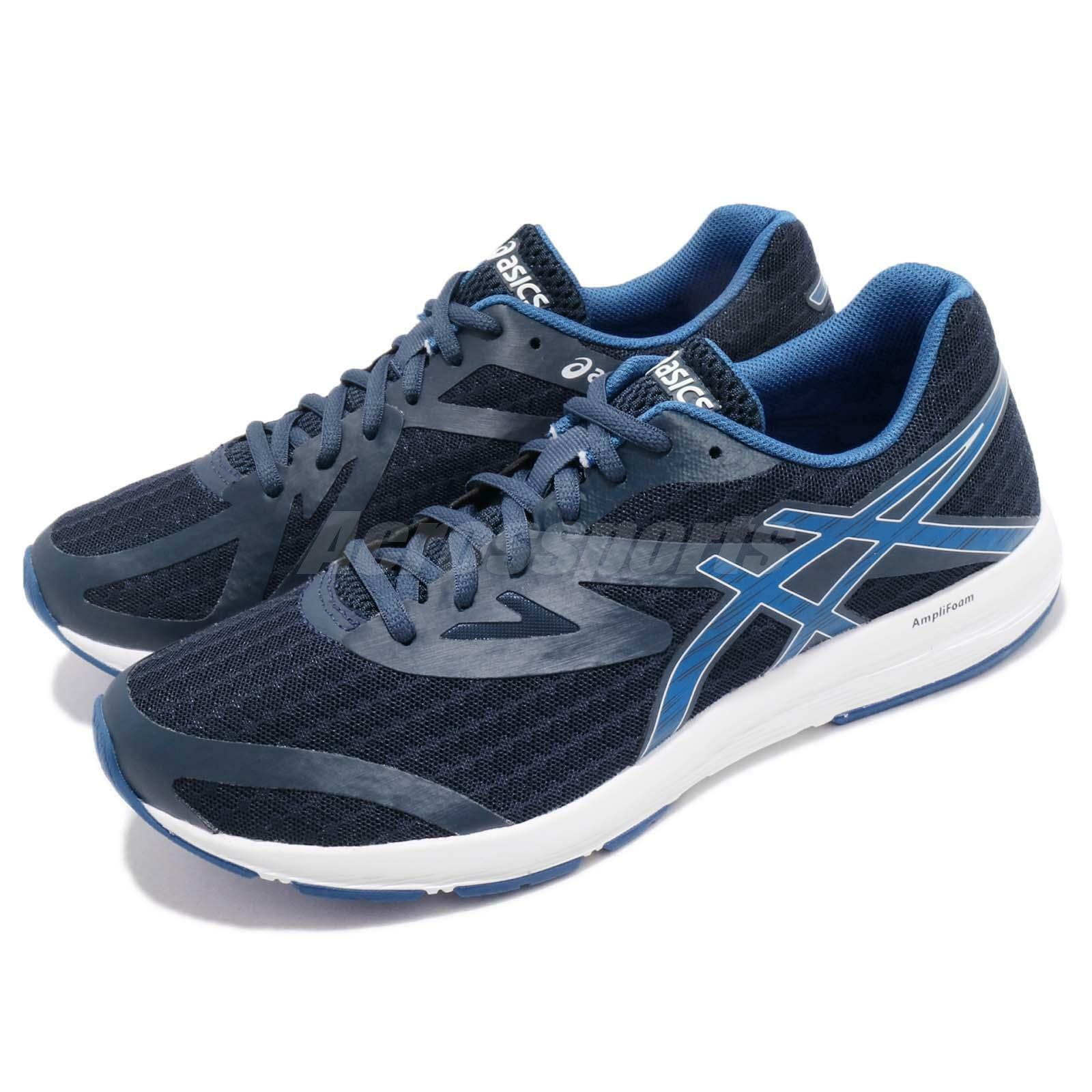 Asics Amplica Navy Blue White Men Running Training Shoes Sneakers T825N-4945 | Prezzo speciale  | Uomini/Donne Scarpa