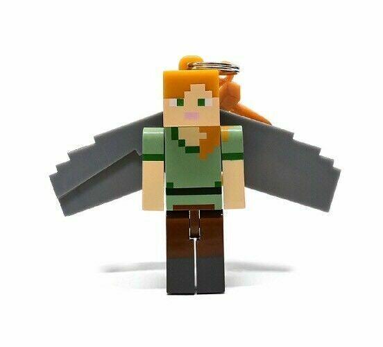 New Minecraft Series 4 Hangers Polar Bear Teddy Keychain Backpack Clip On Figure