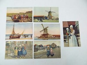 1924 1951 Dutch Photochromie Series 80s Holland Dutch Windmill Postcards