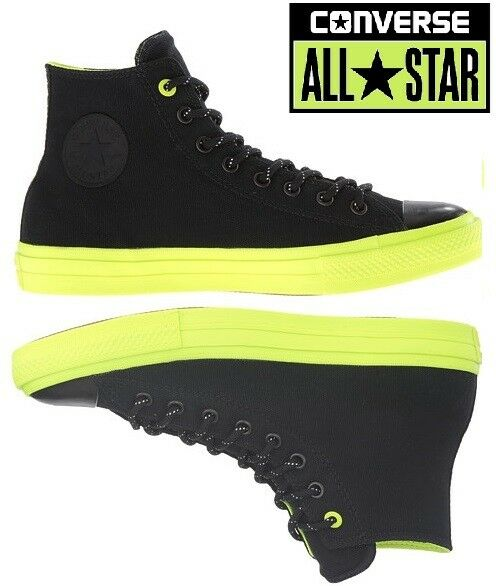 aa9cc2e5775ff1 Men s Converse Chuck Taylor All Star II Hi M Hi-top Trainers in Black UK 7    EU 40