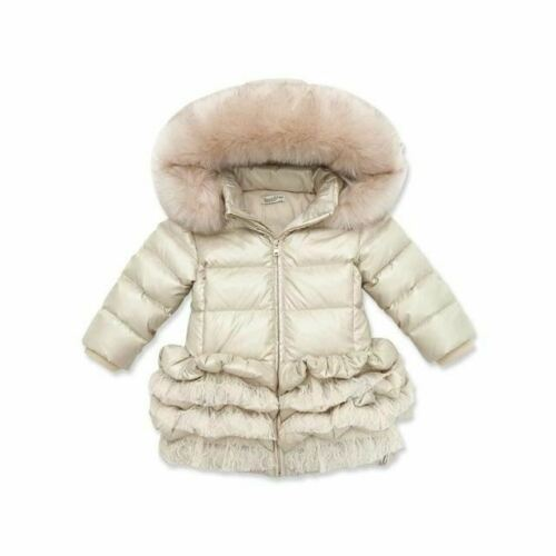 DB3390 dave bella  winter infant coat baby down padded coat girls white duck dow