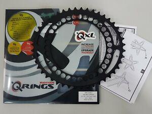 53T,54T Rotor QXL Ring Aero BCD130 x 5Bolt Road Chainring Black