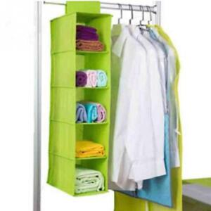 Image Is Loading Hanging Clothes Storage Wardrobe Organizer Closet  Box Shelf