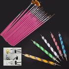 5/15Pcs Two Choice Nail Art Polish Painting Draw Pen Brush Tips Tools Set