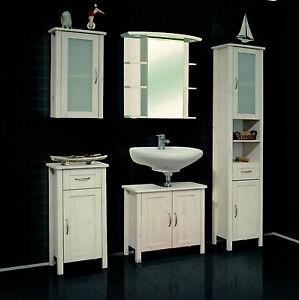 komplettbad landhaus pedro badm bel 5 teilig kiefer massiv wei uvp 429 ebay. Black Bedroom Furniture Sets. Home Design Ideas