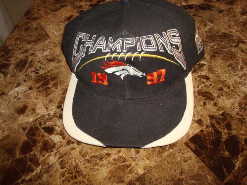 Vintage Denver Broncos 1997 AFC Champions Snapback Hat Cap Brand New Tags Sports Specialties John Elway Colorado 1990s 90s