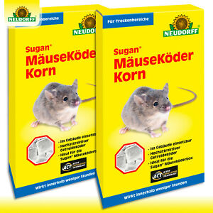 Neudorff 2 x 200 g Sugan® MäuseKöder Korn