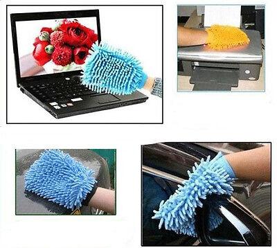 Microfiber Soft Mitt Car Beauty Vehicle Washing Glove Mitten Cleaning Brush GO