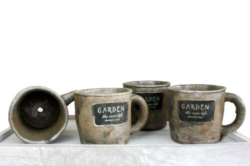Mini Argile Résine Fleur Plante Pot rouille Jardiniere Jardin Bureau Maison Bureau Décoration