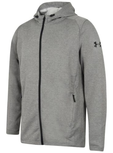 Under Armour Mens MK-1 French Terry Full Zip Hoodie Gym Hoody Hooded Sports Top