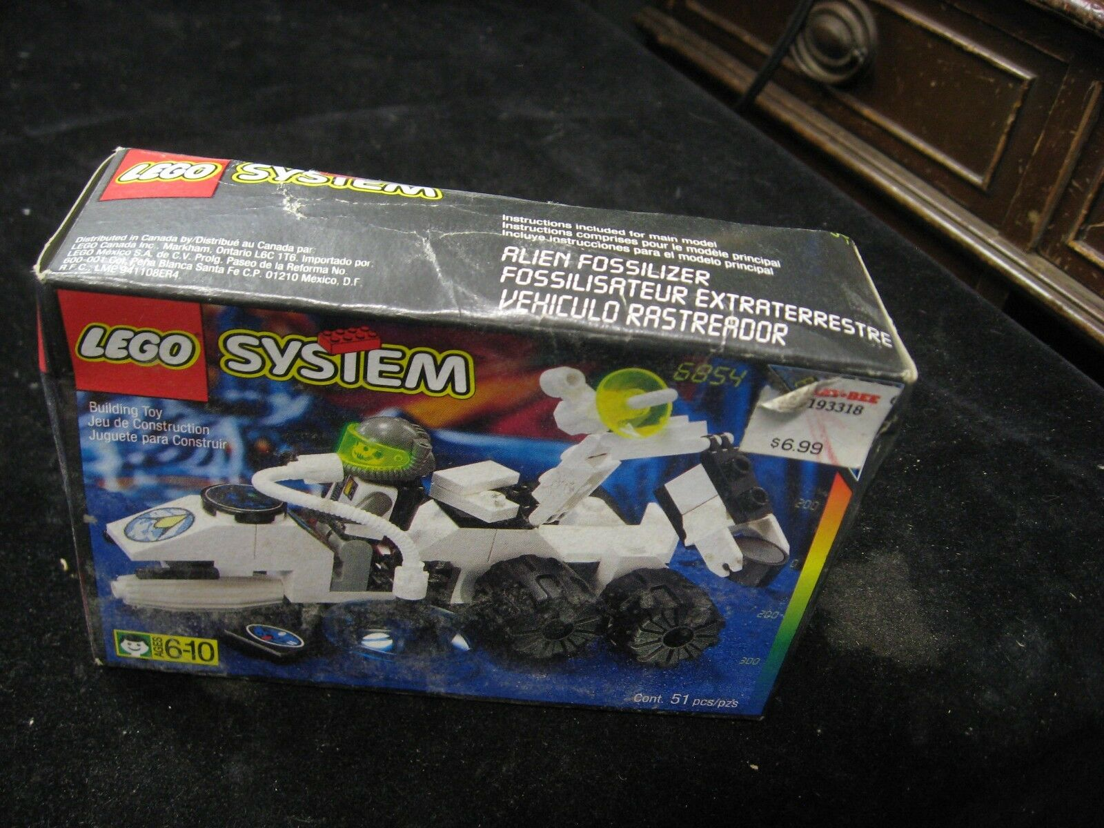 1996 NEW Sealed Lego System Alien Fossilizer 6854 Space Explorers