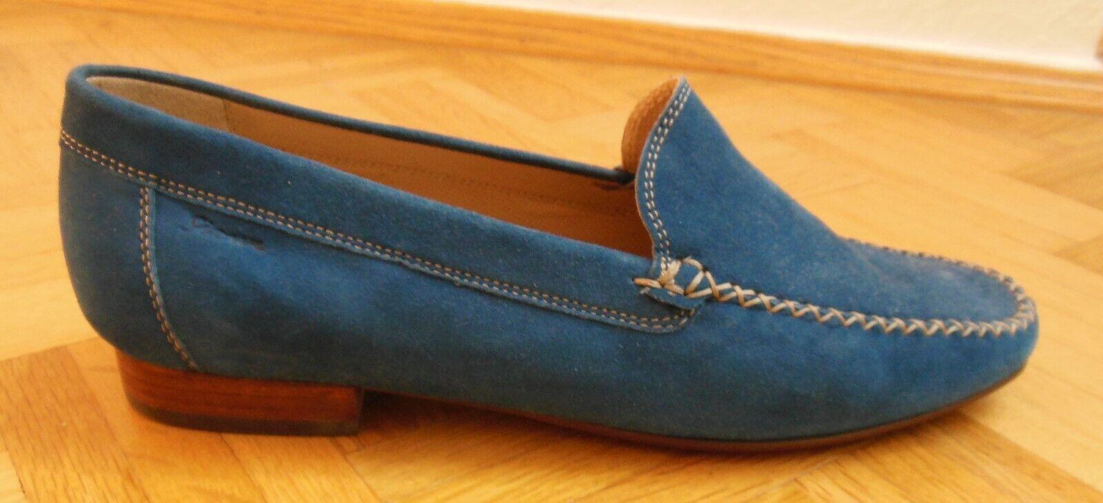 Blaue Damen Sioux Mokassin, Slipper, Gr. 40