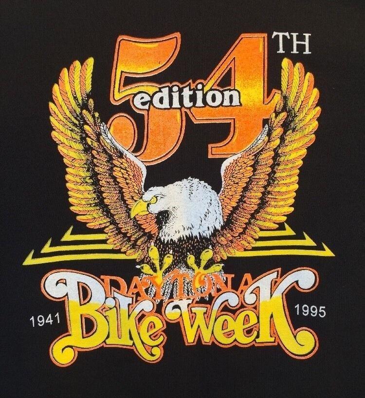Vintage Daytona Beach 54th Bike Week 1995 Long Sleeve Sweatshirt Size Large
