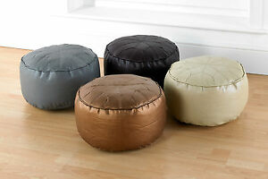 Luxury-Faux-Leather-Moroccan-Style-Footstool-Pouffe-Bean-Bag-Seats-In-4-Colours