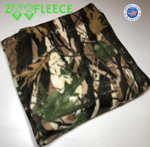 "ZooFleece Green Tree Camouflage Camo Hunting 60X60/"" Linen Blanket Throw Quilt"