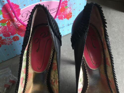 condizioni Black Poetic 7 Shoes Ottime Heeled 40 License Ladies Peep Toe Size EPwxPBqnr
