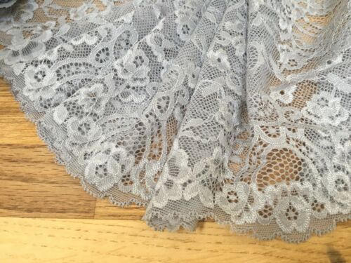 """*New* 7/""""//18cm Stunning Silver Grey Stretch Galloon Lace Trim Sewing//Lingerie"""