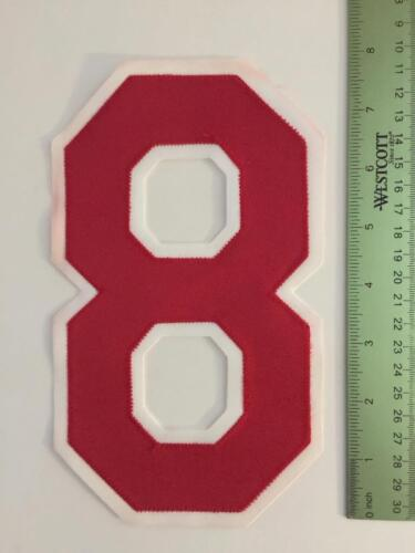 "Vintage NOS 8/"" Tackle Twill Red White Number 8"