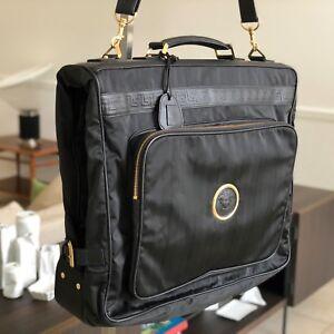 f89c95dfb6ea7 Image is loading GIANNI-VERSACE-garment-bag-nylon-w-leather-trim-