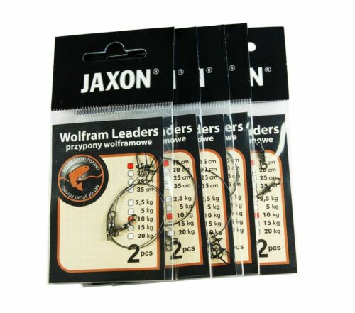 Tungsten with swivel and snap 5 packs of 2 leaders in each Details about  /WOLFRAM LEADER JAXON
