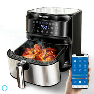 1700W-Alexa-Air-Fryer-5-8QT-XXL-Oilless-Oven-LED-APP-Temp-Timer-8-Cooking-Preset