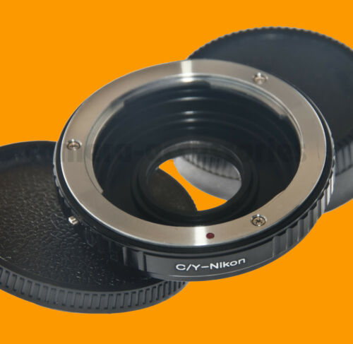 C//Y Contax Yashica Lens to Nikon F Mount Adapter ring Infinity focus Glass CY