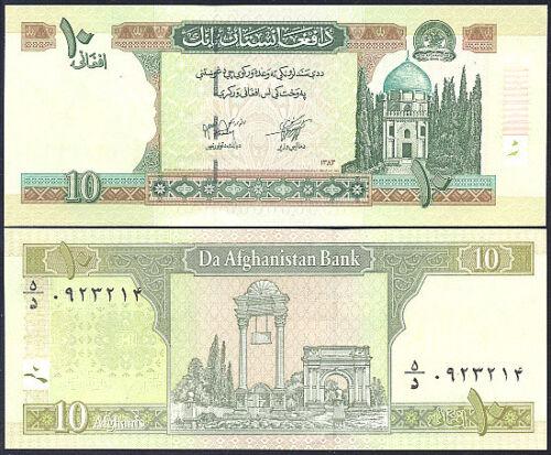 AFGHANISTAN 10  AFGHANIS  2004 P 67b  Uncirculated Banknotes