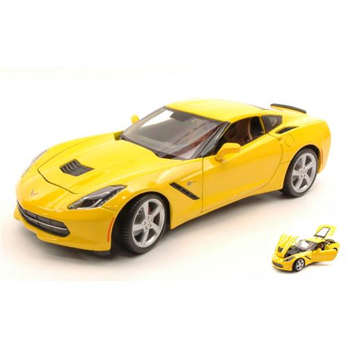 CORVETTE STINGris 2014 giallo 1:18 Maisto Auto Stradali Die Cast Modellino