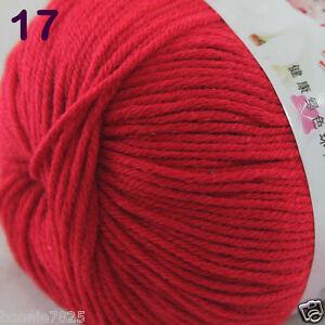 Sale-1-Skein-x50g-Baby-Cashmere-Silk-Wool-Children-hand-knitting-Crochet-Yarn-17