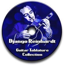 DJANGO REINHARDT JAZZ CHITARRA INTAVOLATURE CANTO BOOK CD SOFTWARE ANTHOLOGY