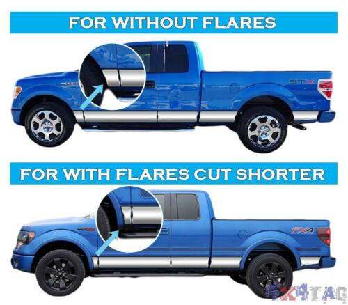 "Chevy C//K REG Cab SB 88-98 Stainless Steel 5.5/"" Rocker Panel W//Flares 10PC"