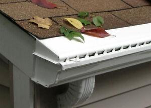 60 Ft Vinyl Solid Gutter Cover Leaf Guard Trial Box Ebay