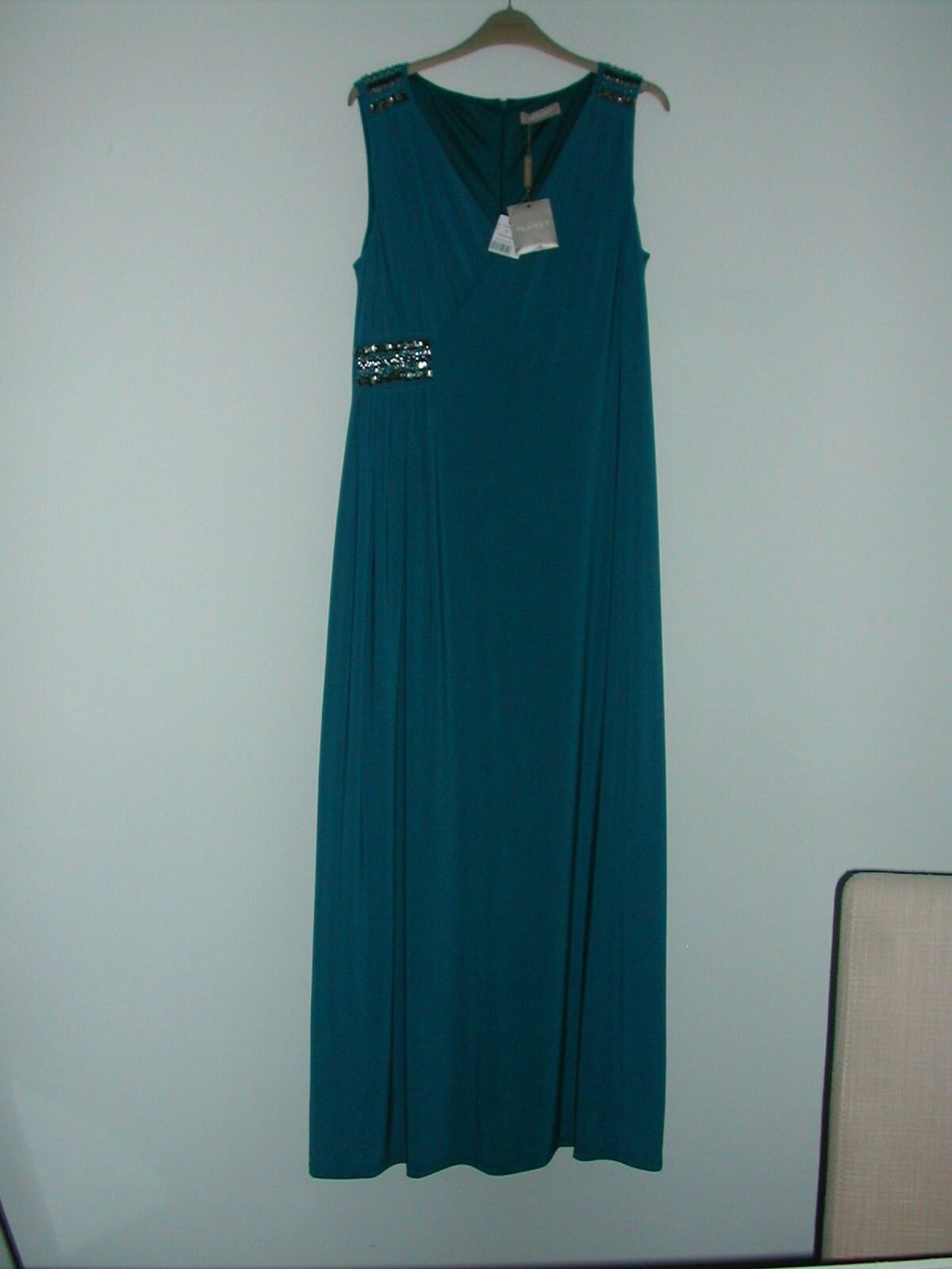 8338f5b71343d6 LADIES MAXI EMBELLISHED DRESS - PLANET - BNWT - - SIZE 12 JADE owikyj2321- Dresses