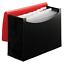 12-Pocket File Folder Office Organizer Monthly Leter Size Expanding Red Black