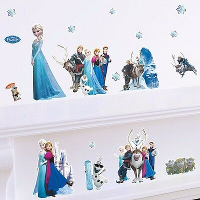 DISNEY FROZEN Elsa Anna Wall Stickers Wall Vinyl Decal Home Decor Kids Art Mural