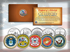 US Armed Forces State Quarter 5-coin Set Army Navy Marines Air Force Coast Guard