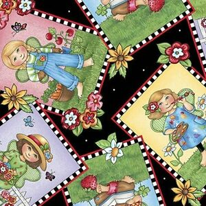 Mary-Engelbreit-Mary-039-s-Fairies-Picture-Patches-Fabric-25891-J-By-the-Yard