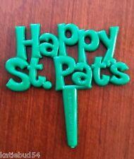 48 Happy St Pats Day Irish Green Cupcake hors d'oeuvres Pick Patrick