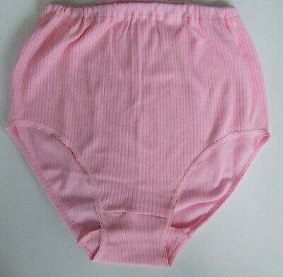 Maxi full briefs knickers size 16-18 ribbed tunnel elastic 100/% cotton Mint Blue