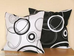 kissenh lle ca 40x40 cm 50x50 cm schwarz weiss kissenbezug deko kissen neu ebay. Black Bedroom Furniture Sets. Home Design Ideas