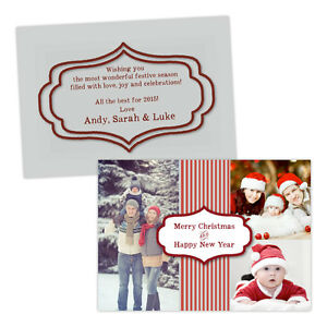 Personalised-Christmas-greeting-cards-CHRISTMAS-THREE-PHOTOS-CURLY-BORDER-FREE-E