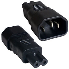 IEC Male Kettle (C14) to Figure of 8 Female (C7) Power Adapter -10A -Plug/Socket