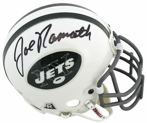 Jets Joe Namath Authentic Signed Vintage Authentic Mini Helmet BAS