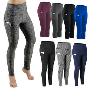 643ce8bc9d1 NEW Womens Workout Leggings Sports Yoga Gym Fitness Pants Athletic ...