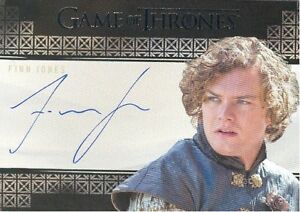 Game of Thrones Valyrian Steel Finn Jones as Loras Tyrell GOLD Autograph