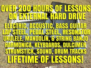 200-Hours-Of-Lesson-On-External-Hard-Drive-Guitar-Bass-Ukulele-Lap-Steel-MORE