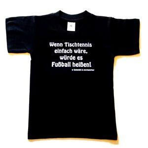 Details Zu Sprüche Sport T Shirt Schwarz Wenn Tischtennis Einfach Wäre Fun