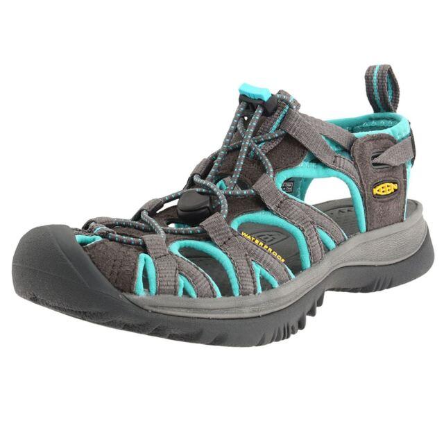 e01f3c938ed8 Keen Whisper Dark Shadow Ceramic Waterproof Walking Trekking Womens Sandals